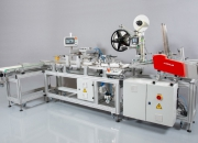 Automatic line for opening, labelling, inserting and welding of sachets with anti-coronavirus (Covid-19) tests